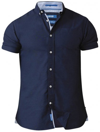 D555 Norman Short Sleeve Oxford Shirt Navy - Shirts - Shirts - 2XL-8XL