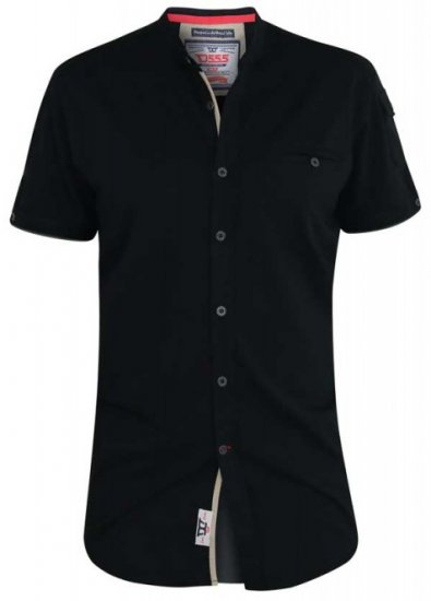 D555 Archer Collarless Shirt Black - Shirts - Shirts - 2XL-8XL