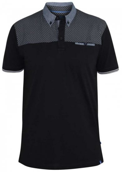 D555 Brent Polo Black - Polo shirts - Polo shirts -2XL-8XL