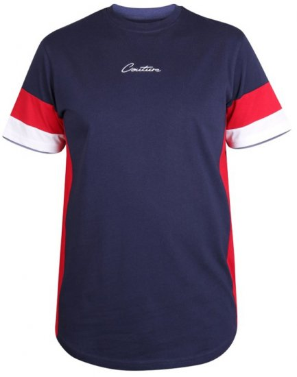 D555 Baker T-shirt Navy - T-shirts - T-shirts in big sizes - 2XL-8XL