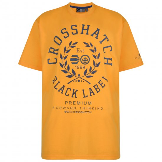 Crosshatch Laygos T-shirt Yellow - T-shirts - T-shirts in big sizes - 2XL-8XL