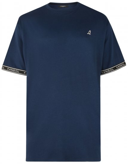Kangol Descend T-shirt Navy - T-shirts - T-shirts in big sizes - 2XL-8XL