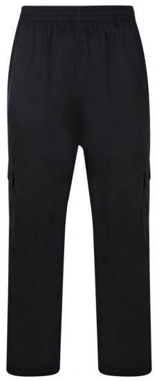 "Kam Jeans Cargopocket Joggers ""Lightweight"" Black - Sweatpants & Shorts - Sweat pants & Sweat shorts 2XL-8XL"