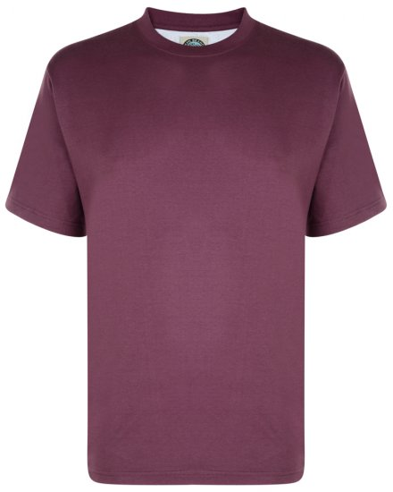 Kam Jeans T-shirt Plum - T-shirts - T-shirts in big sizes - 2XL-8XL