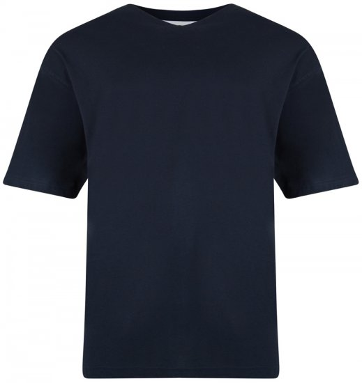 Kam Jeans V-neck T-shirt Navy - T-shirts - T-shirts in big sizes - 2XL-8XL