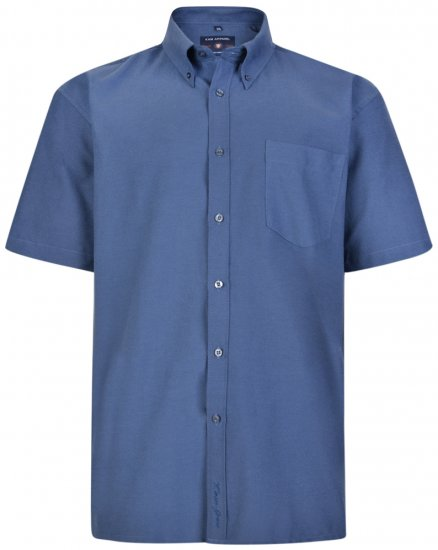 Kam Oxford Shirt Short sleeve Navy - Shirts - Shirts - 2XL-8XL