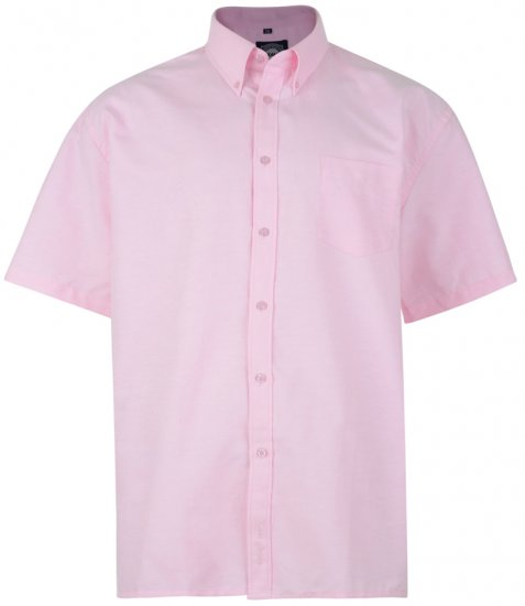 Kam Oxford Shirt Short sleeve Pink - Shirts - Shirts - 2XL-8XL