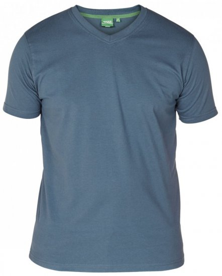 D555 Signature V-neck T-shirt Teal - T-shirts - T-shirts in big sizes - 2XL-8XL