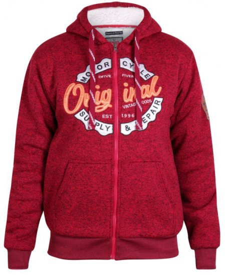 D555 Rylan Hoodie Red - Sweaters & Hoodies - Sweatshirts & Hoodies - 2XL-8XL