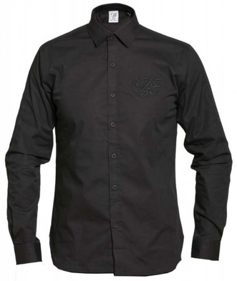 D555 Michael Couture Stretch Shirt Black - Shirts - Shirts - 2XL-8XL