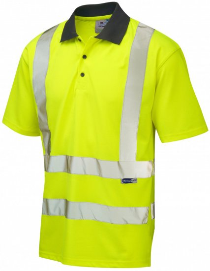 Leo Rockham Coolviz Polo Shirt Hi-Vis Yellow - Workwear - Workwear, rain- and skiclothes - 3XL-10XL