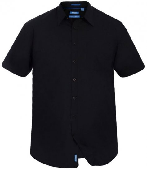 D555 Aeron Easy Iron-Shirt Black - Shirts - Shirts - 2XL-8XL
