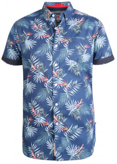 D555 Reuben Hawaii Shirt Navy - Shirts - Shirts - 2XL-8XL
