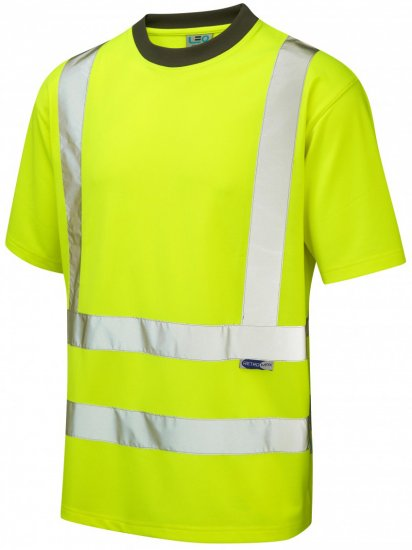Leo Braunton Coolviz T-shirt Hi-Vis Yellow - Workwear - Workwear, rain- and skiclothes - 3XL-10XL