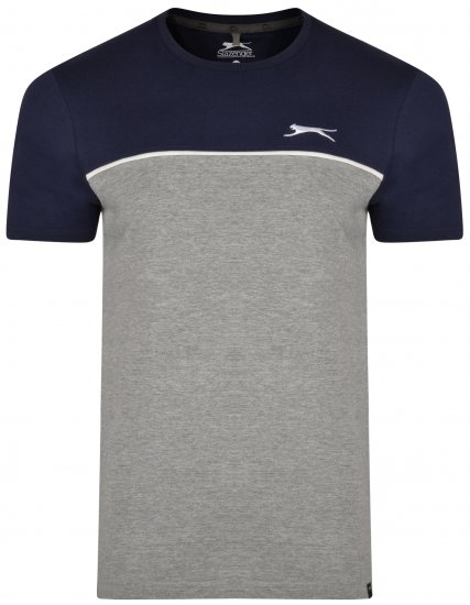 Slazenger Tarique T-shirt Navy/Grey - T-shirts - T-shirts in big sizes - 2XL-8XL