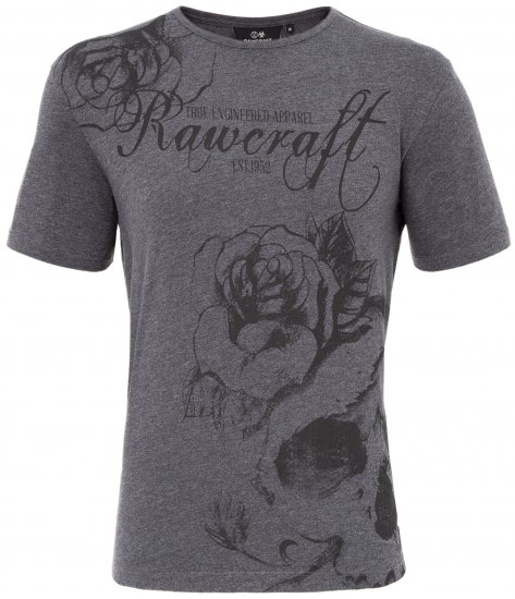 Rawcraft Webling T-shirt Charcoal - T-shirts - T-shirts in big sizes - 2XL-8XL